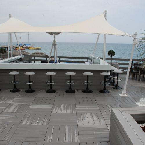 Sakarya parke Therrawood döşeme Deck Pergola Ahsap Dek havuz saksı Odesa